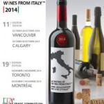 A TASTING OF WINES FROM ITALY – CANADA, NOVEMBER 2014