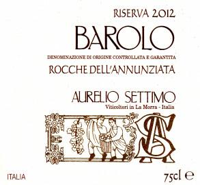 Barolo DOCG 2012 RISERVA Rocche dell'Annunziata