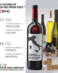 A TASTING OF WINES FROM ITALY – CANADA, NOVEMBRE 2014